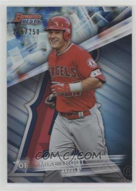 2016 Bowman's Best - [Base] - Blue Refractor #1 - Mike Trout /250