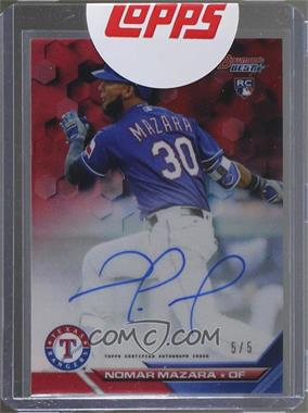 2016 Bowman's Best - Best of 2016 Autographs - Red Refractor #B16-NM - Nomar Mazara /5 [Uncirculated]