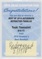 Touki Toussaint [BeingRedeemed]