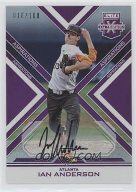 2016 Panini Elite Extra Edition - Autographs - Aspirations Purple #3 - Ian Anderson /100