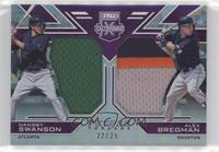 Alex Bregman, Dansby Swanson [Noted] #/25