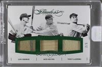 Bob Meusel, Lou Gehrig, Tony Lazzeri /5 [ENCASED]