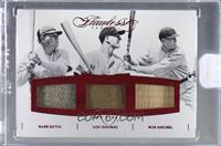 Babe Ruth, Lou Gehrig, Bob Meusel [Uncirculated] #/20