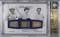 Babe Ruth, Miller Huggins, Lou Gehrig /15 [BGS9.5]