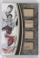 George Case, Lou Brock, Ty Cobb, Rickey Henderson #/25