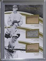 Lou Gehrig, Joe Jackson, Ty Cobb /15
