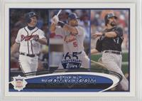 Chipper Jones, Albert Pujols, Todd Helton