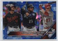 Chris Davis, Mike Trout, Nelson Cruz /250