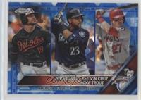 Chris Davis, Mike Trout, Nelson Cruz /250