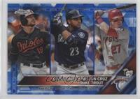 League Leaders - Chris Davis, Mike Trout, Nelson Cruz #/250