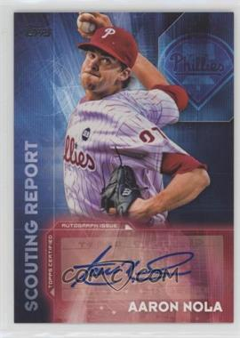 2016 Topps - Scouting Report Autographs #SRA-AN - Aaron Nola