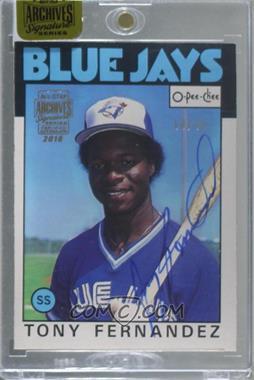 2016 Topps Archives All-Star Signature Edition Buybacks - [Base] #86OPC-241 - Tony Fernandez (1986 O-Pee-Chee) /45 [BuyBack]