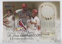 Enos Slaughter, Ozzie Smith, Albert Pujols /50