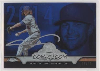 2016 Topps Chrome - ROY Chronicles - Blue Refractor Autographs [Autographed] #ROYA-JD - Jacob deGrom /50