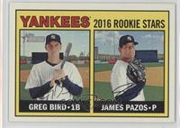 Rookies Stars - James Pazos, Greg Bird