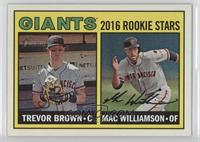 Rookies Stars - Trevor Brown, Mac Williamson