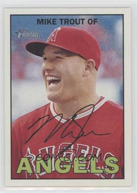 2016 Topps Heritage - [Base] #500.1 - Mike Trout (Base)
