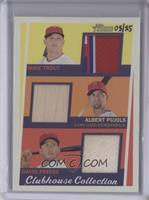 Albert Pujols, David Freese, Mike Trout /25