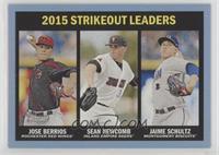 Strikeout Leaders - Jose Berrios, Sean Newcomb, Jaime Schultz (Strikeout Leader…