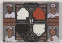 Manny Machado, Chris Davis, Adam Jones, J.J. Hardy #/99