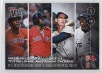 Willie McCovey, David Ortiz, Ted Williams, Frank Thomas /1060