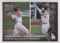 7bbff567 Corey Seager, Charlie Culberson /704. 2016 Topps Now ...