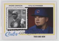 1978 Topps Then and Now Design - Andre Dawson, Kyle Schwarber #/1,321