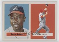 1957 Topps Football Design - Hank Aaron, Mike Trout #/769