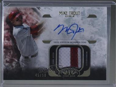 2016 Topps Tier One - Relics Autographs #AT1R-MT - Mike Trout /50