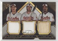 Manny Machado, Chris Davis, Adam Jones #/36