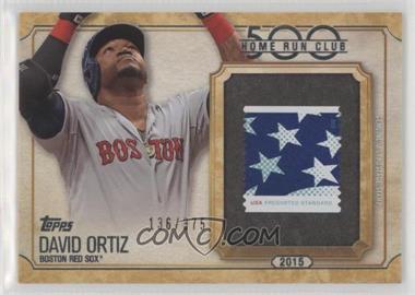 2016 Topps Update Series - 500 Home Run Club Stamp #500SC-DO - David Ortiz /375
