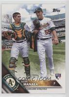Sean Manaea (With Teammate)