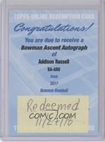 Addison Russell /99 [Being Redeemed]