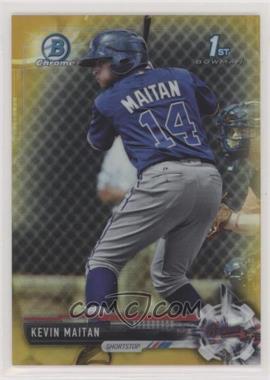 2017 Bowman - Chrome Prospects - Gold Refractor #BCP100 - Kevin Maitan /50