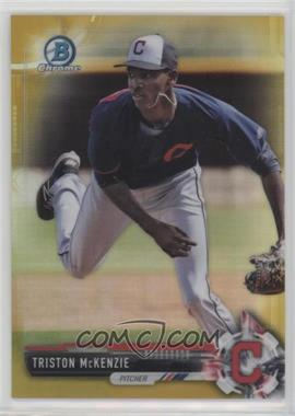 2017 Bowman - Chrome Prospects - Gold Refractor #BCP118 - Triston McKenzie /50