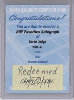 Aaron Judge /150 [REDEMPTIONBeingRedeemed]