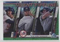 Gleyber Torres, Justus Sheffield, Clint Frazier #/99