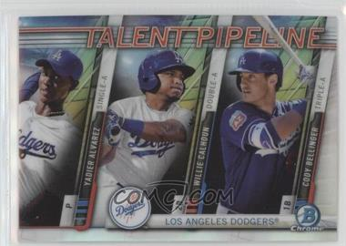 2017 Bowman - Chrome Talent Pipeline #TP-LAD - Yadier Alvarez, Willie Calhoun, Cody Bellinger