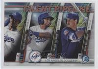 Yadier Alvarez, Willie Calhoun, Cody Bellinger