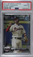 Dansby Swanson (White Jersey) [PSA 10 GEM MT]