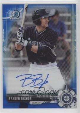 2017 Bowman Chrome - Prospect Autographs - Blue Refractor #CPA-BBI - Braden Bishop /150