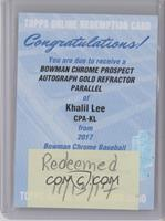Khalil Lee [REDEMPTION Being Redeemed] #/50