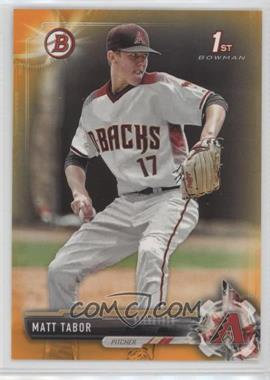 2017 Bowman Draft - [Base] - Orange #BD-168 - Matt Tabor /25