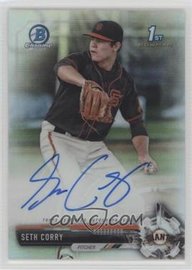 2017 Bowman Draft - Chrome Draft Pick Autographs - Refractor #CDA-SCO - Seth Corry /499