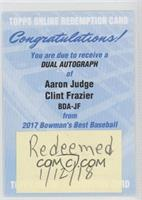 Aaron Judge, Clint Frazier [BeingRedeemed]