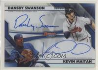 Dansby Swanson, Kevin Maitan #/25