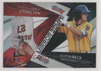 Austin Beck, Mike Trout