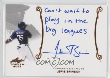 2017 Leaf Trinity - Signatures - Bronze Holofoil Spectrum #A-LB1 - Lewis Brinson