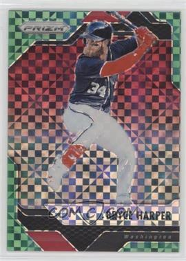 2017 Panini Chronicles - Prizm - Green Power Prizm #28 - Bryce Harper /49