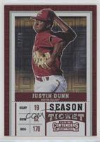 Season Ticket - Justin Dunn (Facing Forward) /10